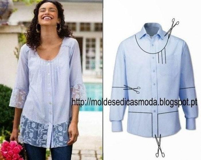 Сшить блузку рубашку своими руками