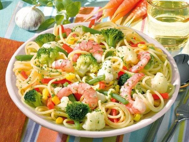 Вермишельы с овощами