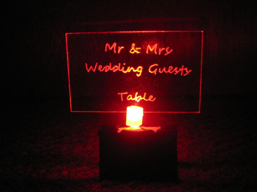 Табличка на стол для гостей