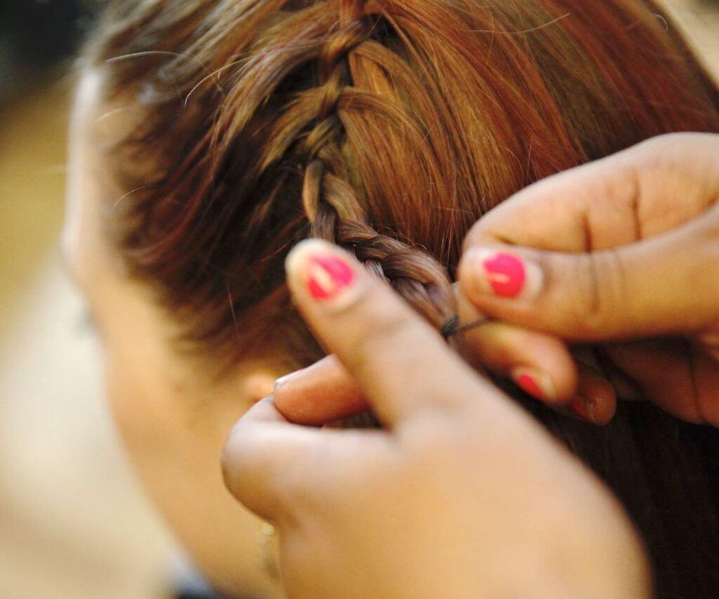 Коса вокруг головы 2