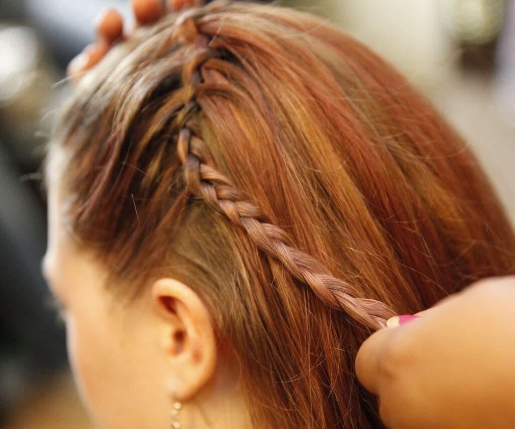 Коса вокруг головы 1