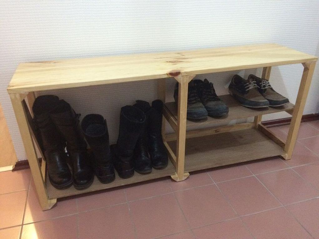 Этажерка для обуви из дерева своими руками 53