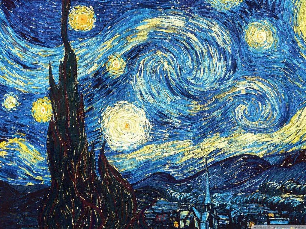 картина звездная ночь