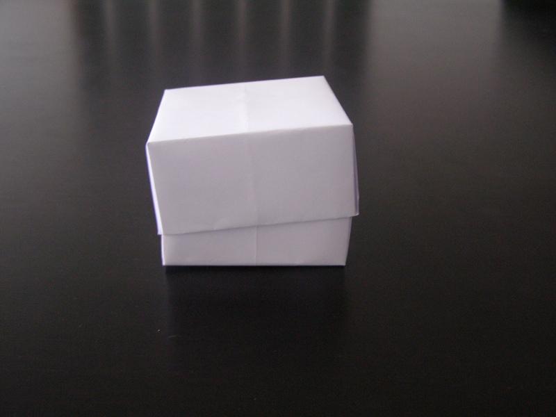 Коробка из листа бумаги