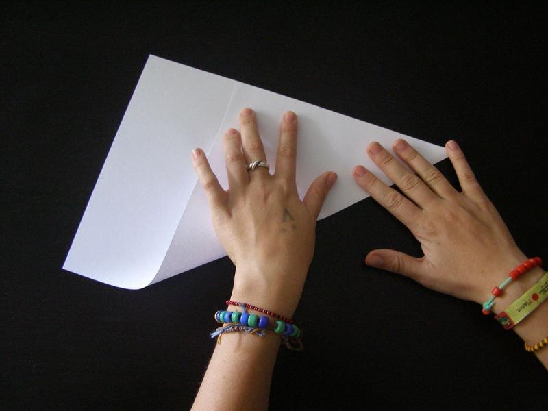 Складываем лист