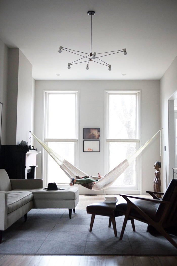 hammock in the apartment