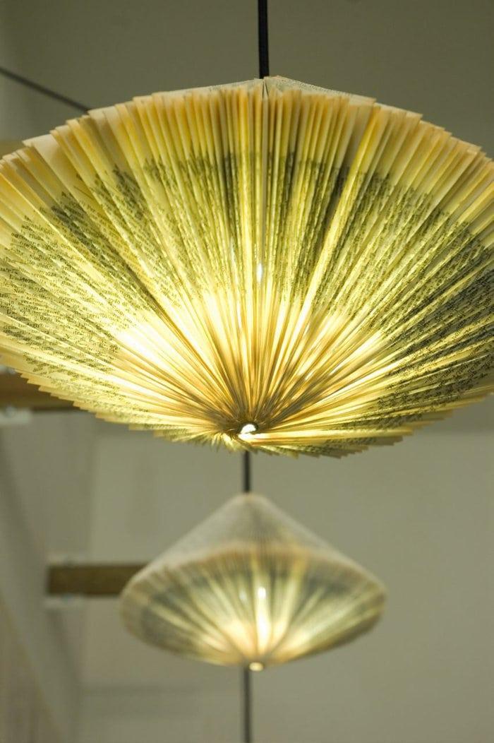 Бумажный подвесной светильник