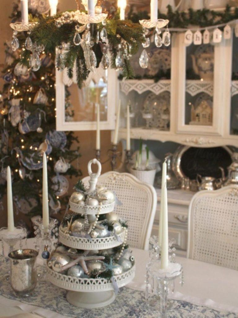Милое украшение стола на Новый год