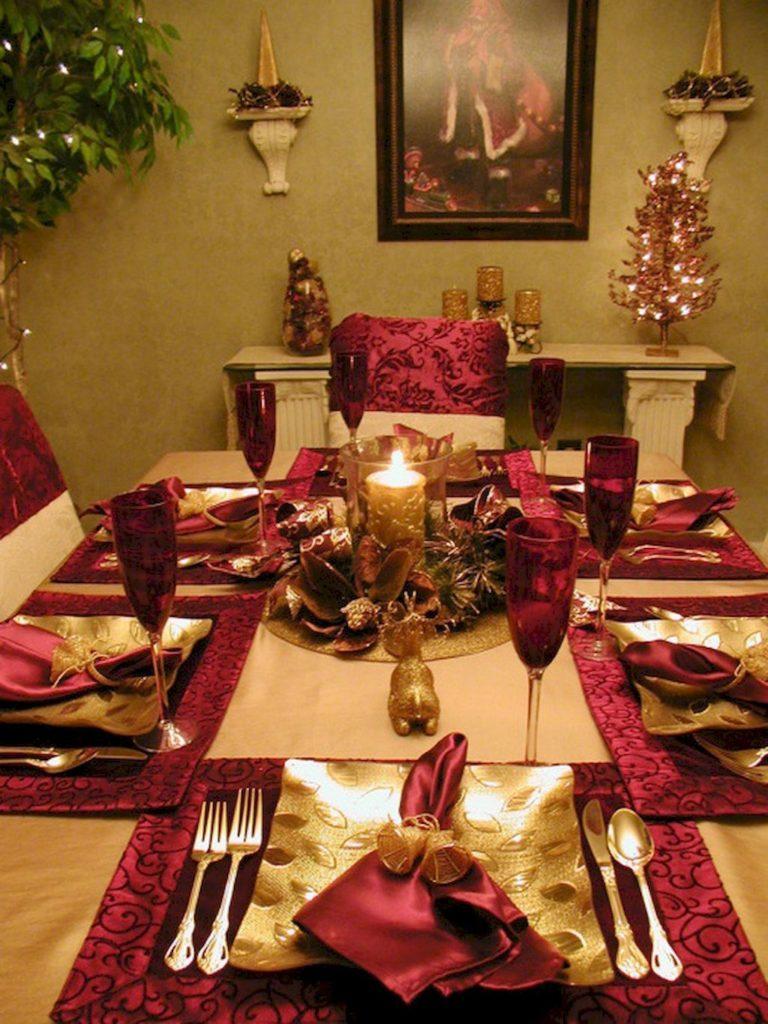 Роскошный декор для новогоднего стола