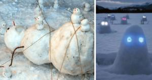 самые оригинальные снеговики