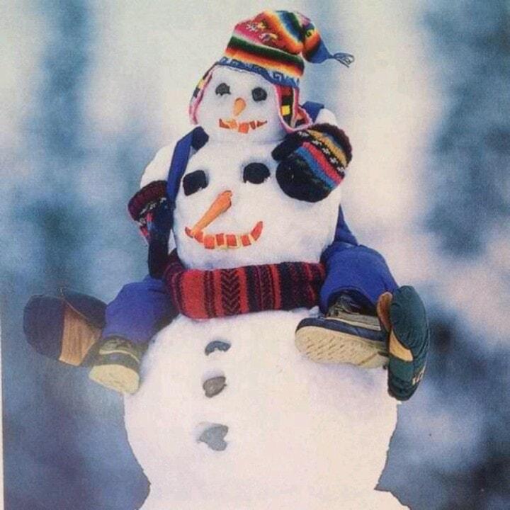 снеговик папа