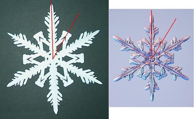 натуральная снежинка из бумаги