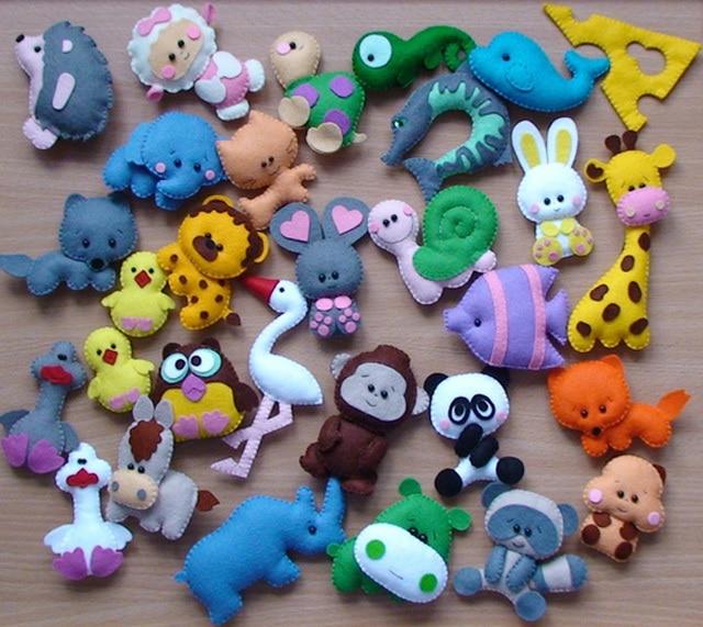Маленькие игрушки из фетра. Выкройка фетровых игрушек - Своими руками