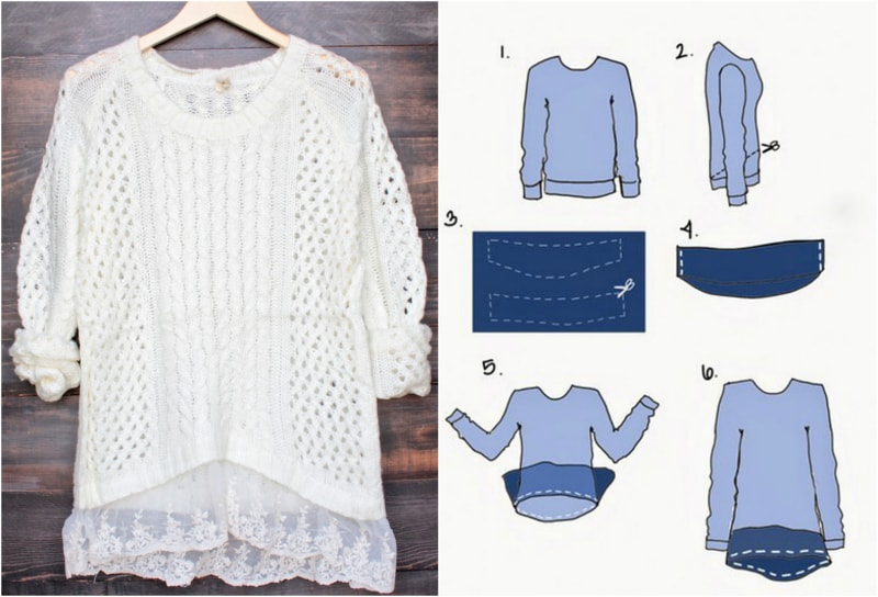 блузка и свитер