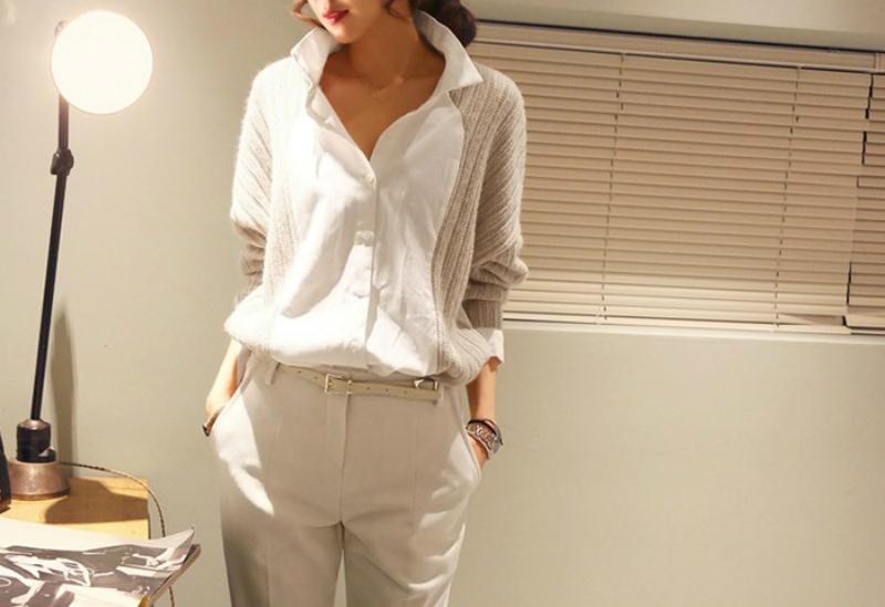 кофта сшита с блузкой