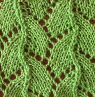 пример вязания узора змейка