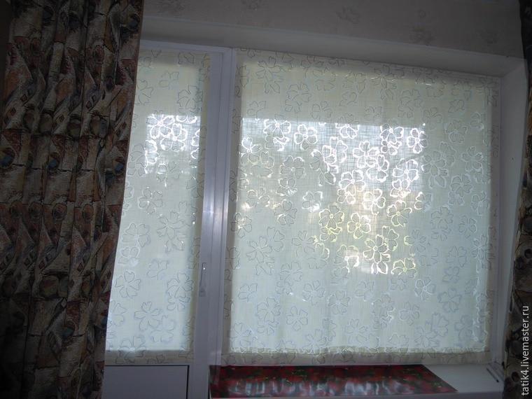 465Шторы на пластиковое окно на липучке своими руками
