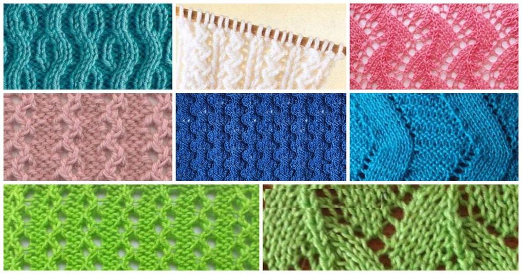 Вязание спицами узоров змейки 90
