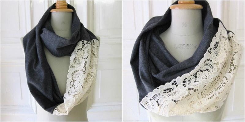 как сшить красивый шарф