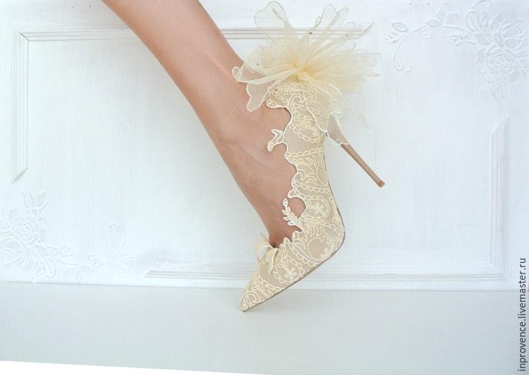 Кружевные туфли своими руками 92