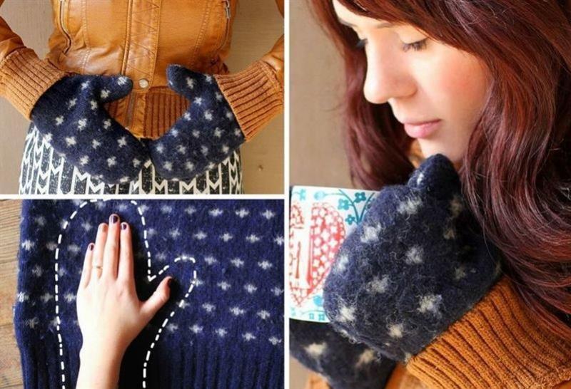 Что можно сшить из старого свитера своими руками 30