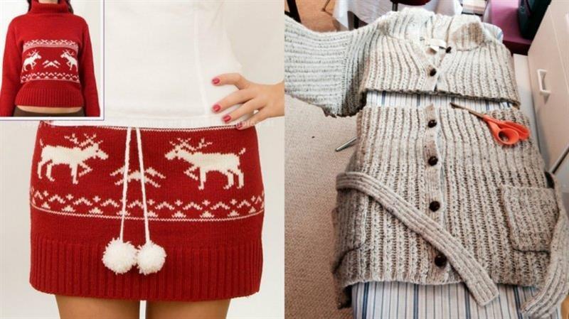 Что можно сшить из старого свитера своими руками 76