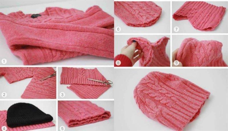 Что можно сшить из старого свитера своими руками 84