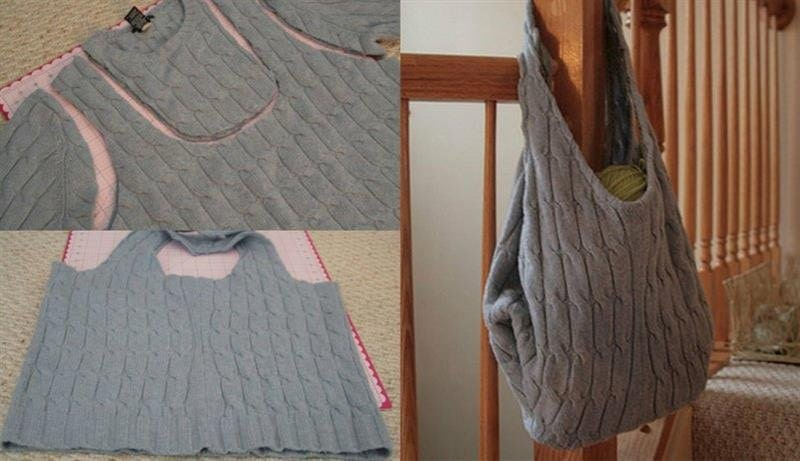 Как переделать старый свитер: 15 интересных, уютных и теплых идей... Креативные поделки из старого свитера!