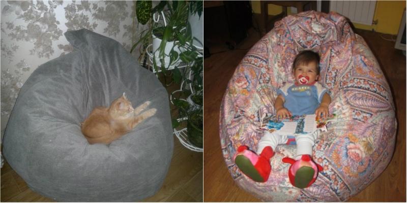 выкройка кресла-мешка