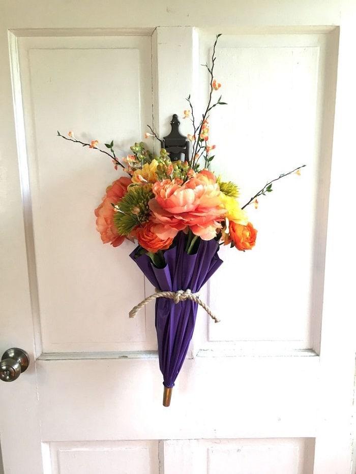flowers in umbrella