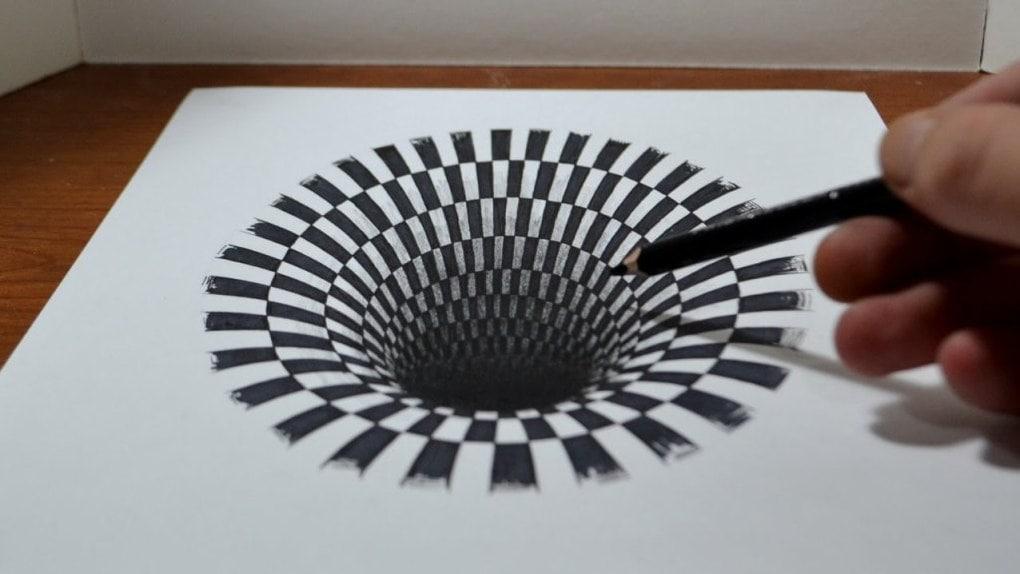Как сделать иллюзию карандашом