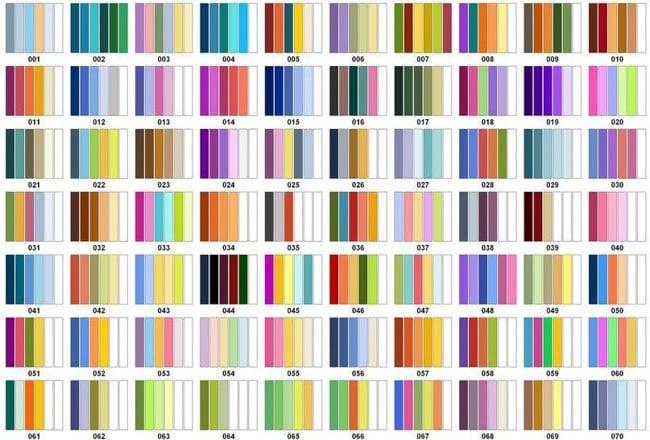 Сочетание цветов в вязание спицами 824