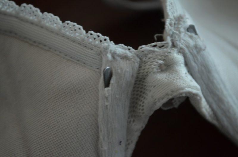 Bones crawl out in the bra