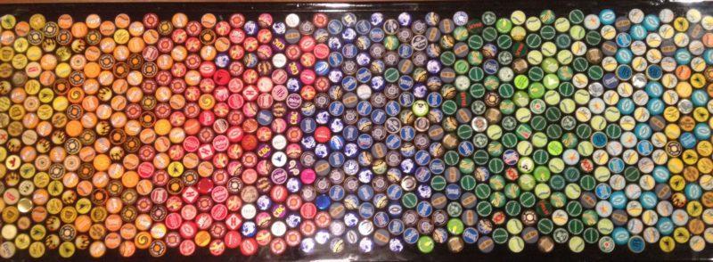 крышки от пивных бутылок