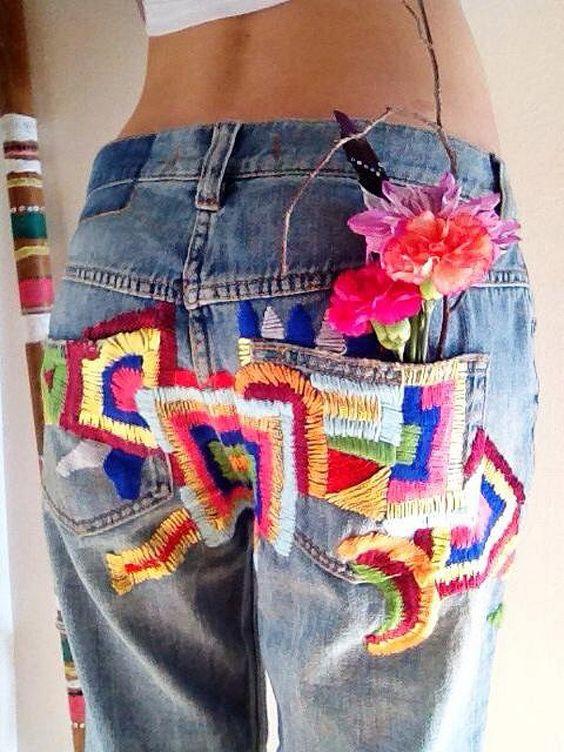 Красивые заплатки на джинсы