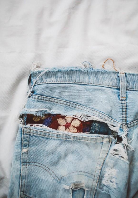 бохо джинсы своими руками