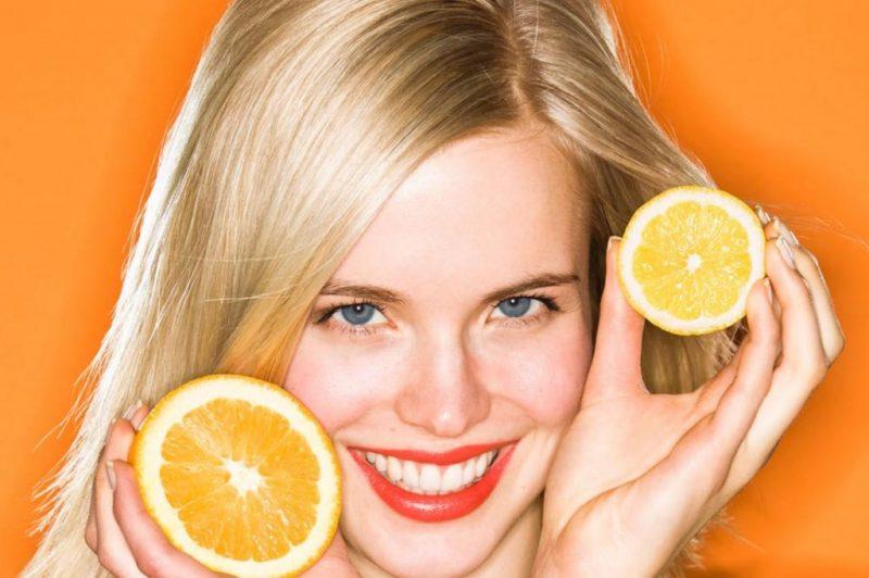 волосы и лимон