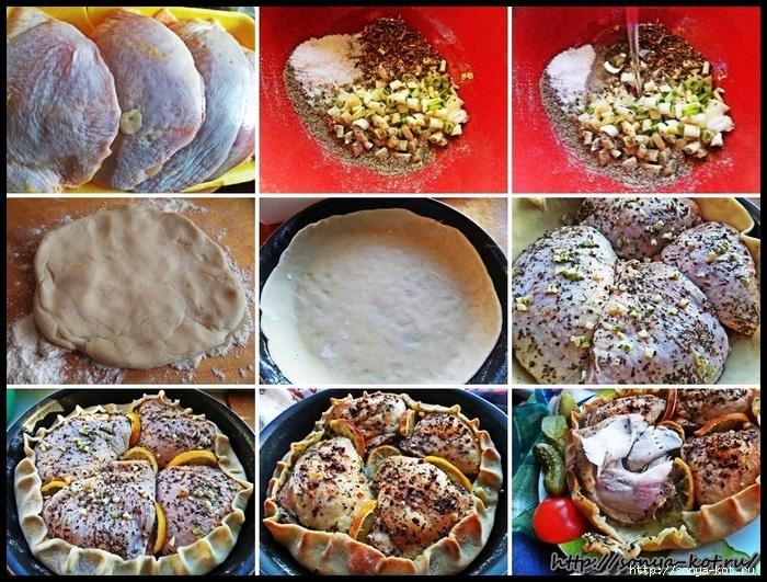 рецепт курицы в съедобной тарелке