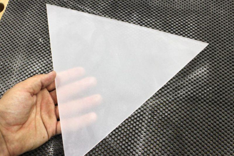 polished plexiglass