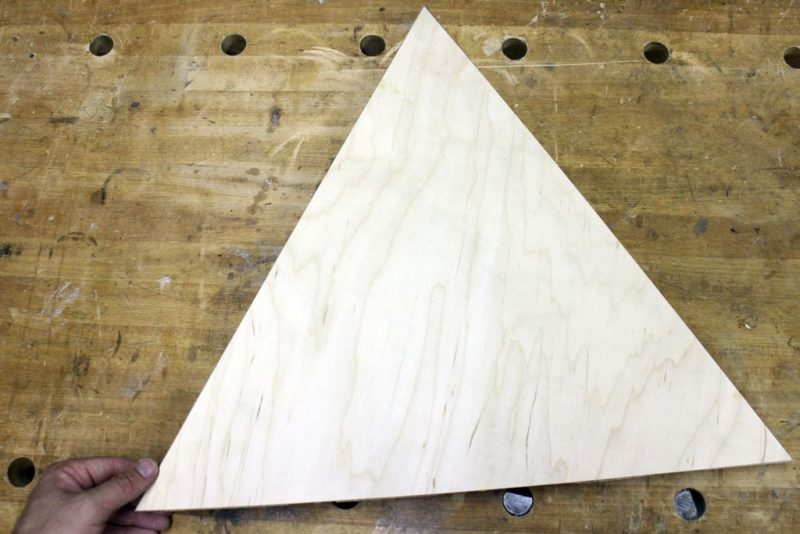 plywood triangle