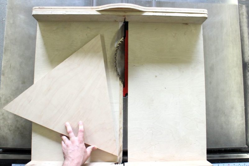 plywood triangle table saw