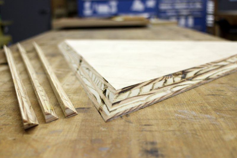 plywood triangle with chamfer