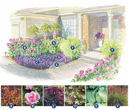 Как сделать красивую клумбу: 15 схем для цветника.