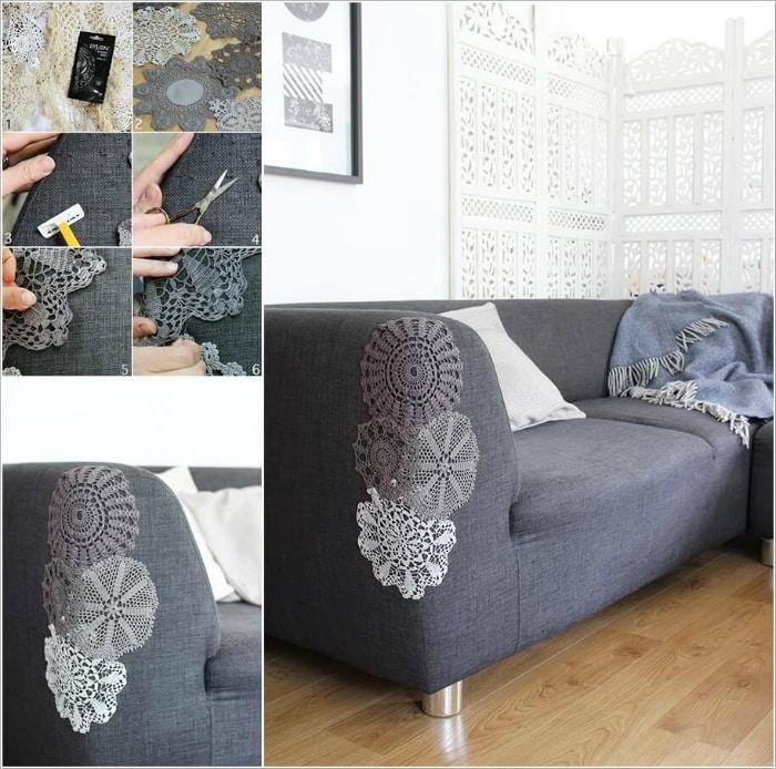Задекорировать диван своими руками 12