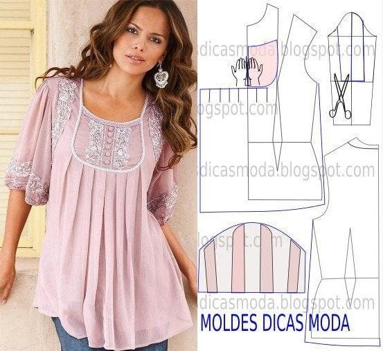 Как сшить модную блузку для полных женщин 8