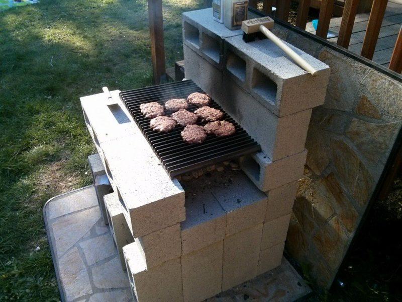печка из шлакоблоков