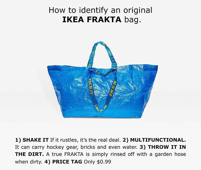 как отличить сумку икеа