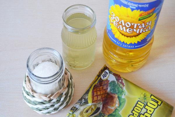 ингредиенты для горчицы