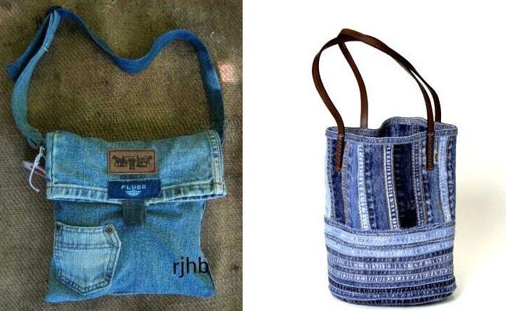 Как сшить сумки из джинсов 96