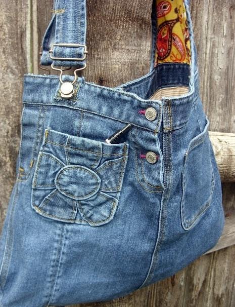 Как сделать сумку джинсовую